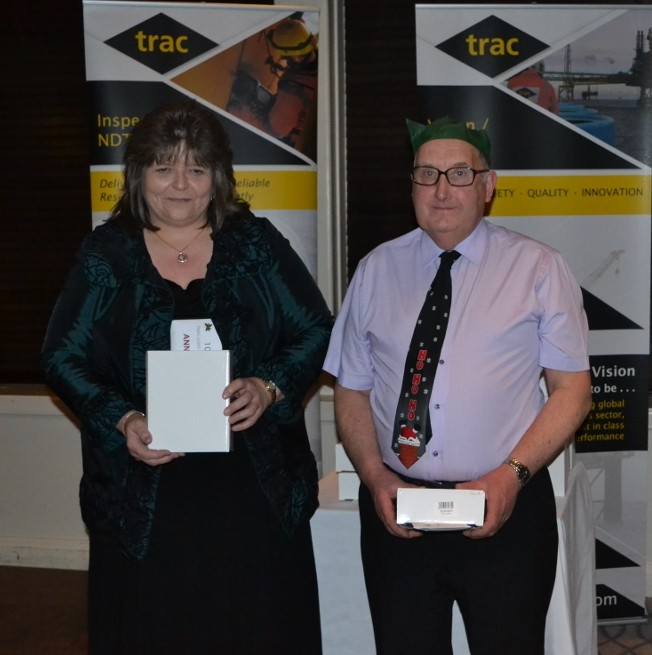 Recipients of 10 years service awards