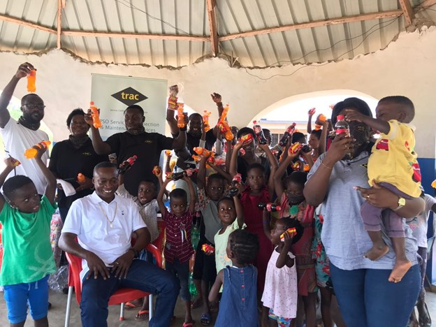 TRAC Oil and Gas Services Ghana Ltd – TRAC puts Smiles on the Faces of Children at the Eye of the Lord Orphanage at Nsawam